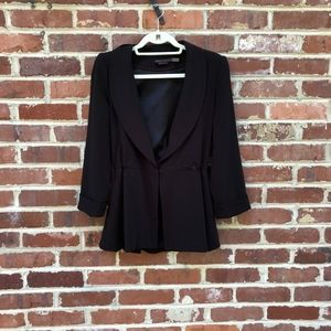 Alice + Olivia Employed Black Blazer Jacket Medium